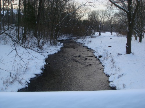 Creek with snow