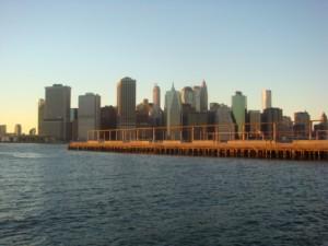 view of Manhattan skyline