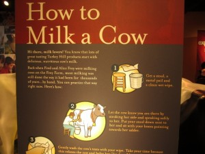how to milk a cow sign
