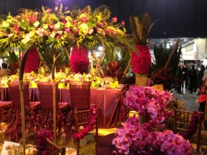 Floral wedding setting