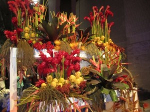 Hawaiian floral display