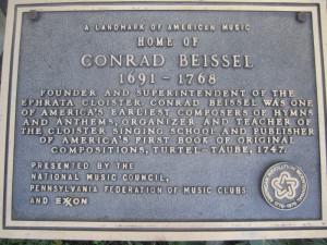 Conrad Beissel plaque