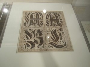 letters in calligraphy