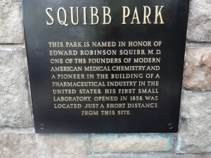 Squibb Park Plaque bottom half