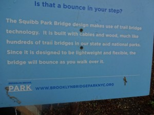 Park Sign explaining bounce