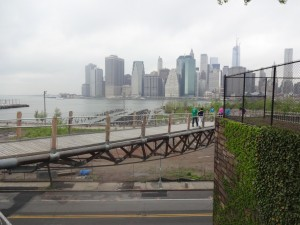 bridge and Manhattan skyline