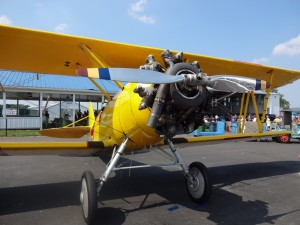 yellow plane front