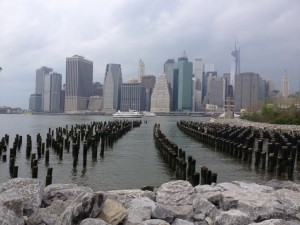 Manhattan skyline from Peir One