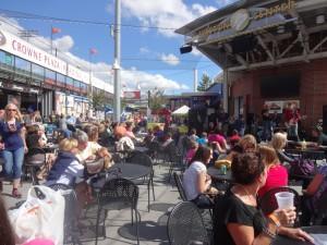 pretzel festival audience
