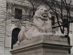 NYPL Lion Sculpture