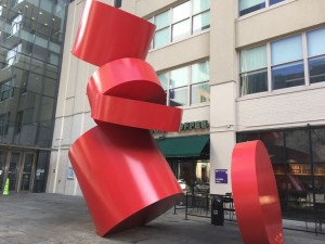 MetroTech Center Red Sculpture